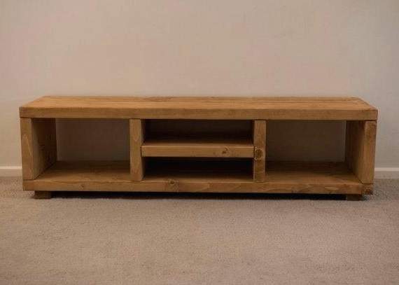 Well Liked Rustic Wood Tv Cabinets Intended For Solid Oak Tv Stands With Glass Doors Wood Furniture Rustic Stand (View 19 of 20)
