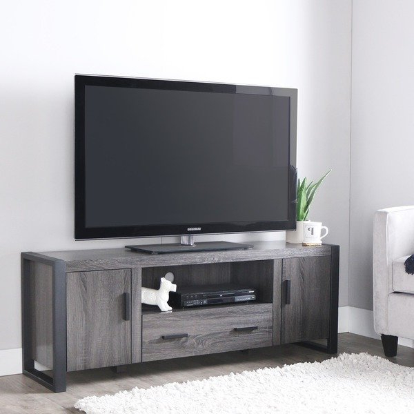 "Well Liked Shop 60"" Urban Blend Tv Stand Console – Charcoal – Free Shipping Inside Century Blue 60 Inch Tv Stands (Gallery 7 of 20)"