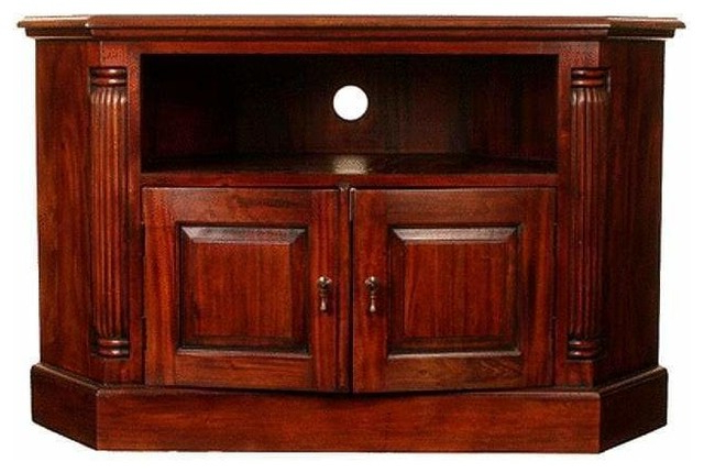 Well Liked Solid Mahogany Corner Television Stand – Traditional – Tv Stands In Mahogany Corner Tv Stands (View 20 of 20)