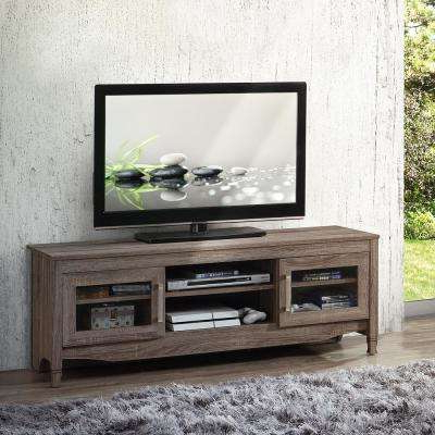 Well Liked Storage Tv Stands Intended For Gray – Tv Stands – Living Room Furniture – The Home Depot (View 20 of 20)