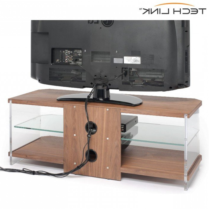 Well Liked Techlink Ai110W Air Walnut With Clear Glass Tv Stand (407220) Intended For Techlink Air Tv Stands (Gallery 10 of 20)