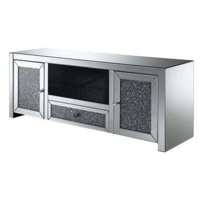 Well Liked Tv Console – Silver – Tv Stands – Living Room Furniture – The Home Depot With Silver Tv Stands (View 18 of 20)