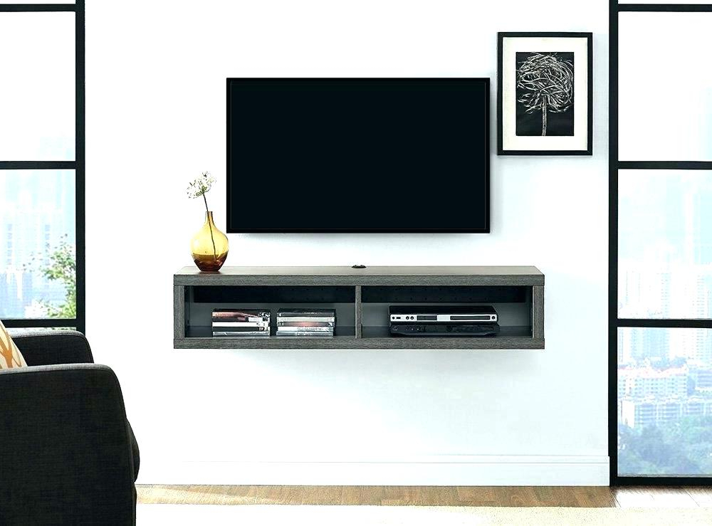 Well Liked Tv Unit 100Cm For Floating Tv Wall Mount Modern Solid Wood Wall Mounted Floating Tv (View 18 of 20)