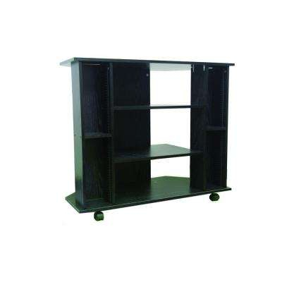Wheels – Black – Tv Stands – Living Room Furniture – The Home Depot Within Favorite Small Tv Stands On Wheels (Gallery 9 of 20)