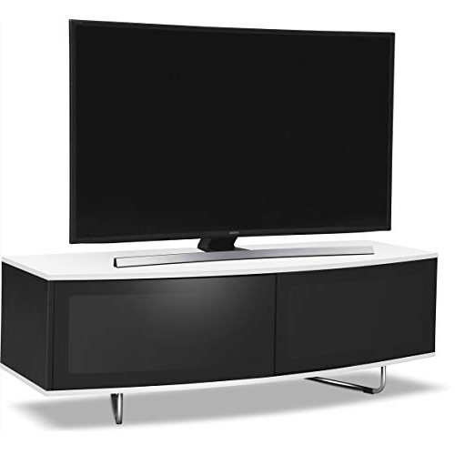 White And Black Tv Stands Throughout Current Black And White Gloss Tv Stand: Amazon.co (View 17 of 20)