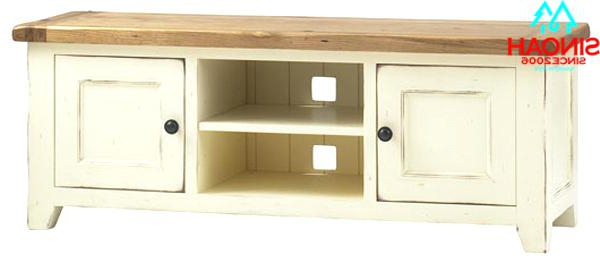White And Wood Tv Stands Throughout Well Known Tv Stand Wood White Range Solid Oak White Stands Wooden Units Buy (View 19 of 20)