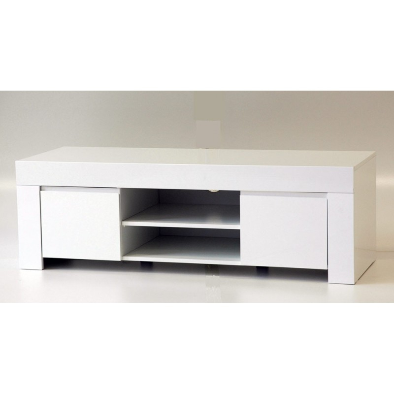 White & Black Gloss Tv Units, Stands And Cabinets (41) – Sena Home With Regard To Well Known Black Gloss Tv Benches (Gallery 2 of 20)