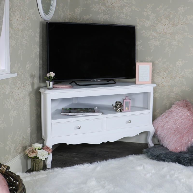 White Corner Tv Cabinets In Well Liked White Corner Television Cabinet – Elise White Range (View 17 of 20)