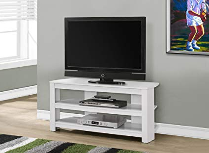 "White Corner Tv Cabinets Regarding Famous Amazon: 42""l White Corner Tv Stand: Kitchen & Dining (View 17 of 20)"