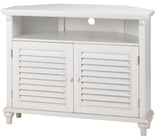 White Corner Tv Cabinets With Best And Newest Tv Cabinets With Doors: Tv Cabinets With Doors Savannah Louvered (View 18 of 20)