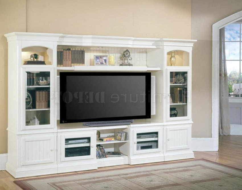 White Entertainment Wall Unit 5 Pc (View 20 of 20)
