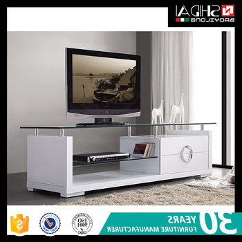 White Glass Tv Stands Within Latest High Quality Modern White Glass Tv Stand E 121 – Buy Modern Tv Stand (View 19 of 20)