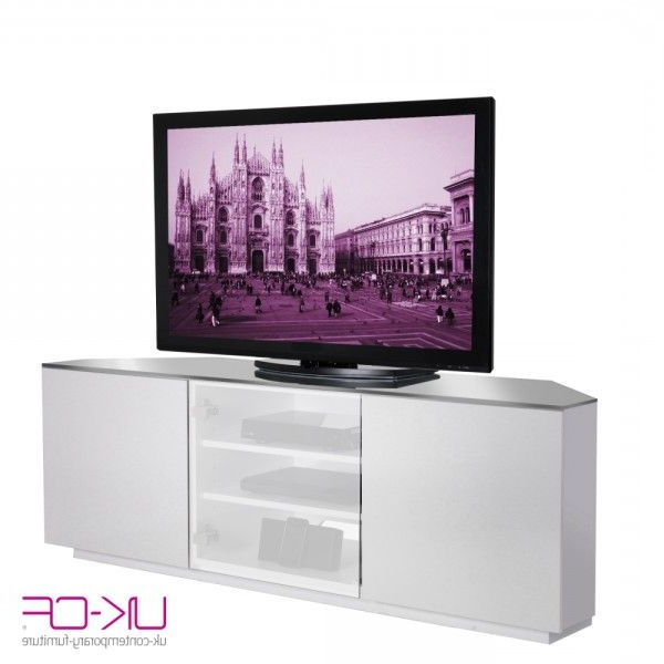 White Gloss Corner Tv Stands With Preferred Image Uk Cf Milan Cabinet White Gloss Corner Av Stand With White (Gallery 12 of 20)