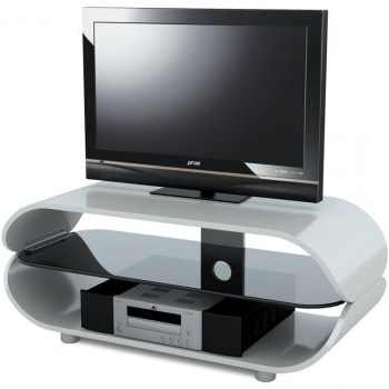 White Gloss Oval Tv Stands With Regard To Preferred High Gloss White Oval Tv Stand For Tvs Upto 60 Inches (View 17 of 20)