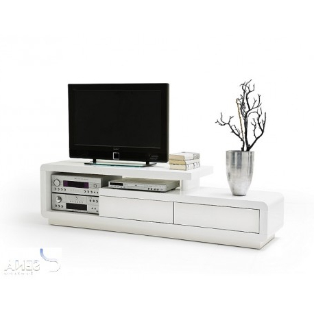 White Gloss Tv Cabinets Pertaining To Recent Tony – High Gloss Tv Unit – Tv Stands (382) – Sena Home Furniture (View 8 of 20)