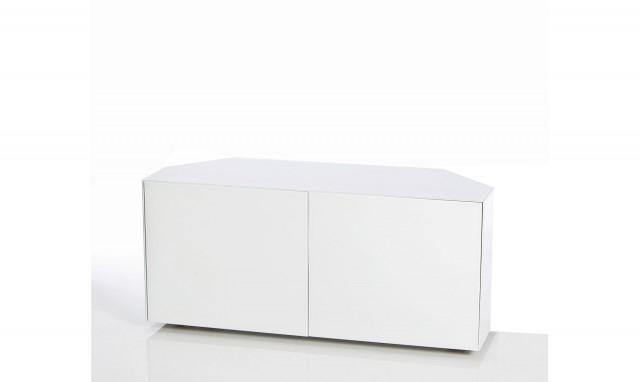 White High Gloss Corner Tv Unit For Favorite Marvel – 110Cm Corner Tv Unit In White High Gloss (View 8 of 20)