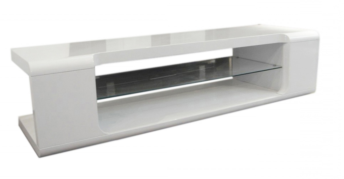 White High Gloss Tv Stands For Most Popular Dockland Prestige Residential » Parker High Gloss Tv Unit (View 9 of 20)