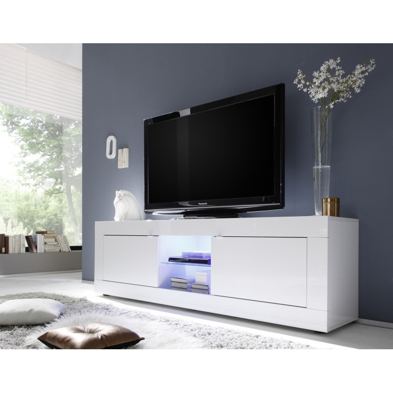 White High Gloss Tv Stands For Well Known Tv Stands: Glamorous White High Gloss Tv Stand 2017 Design Black (Gallery 17 of 20)