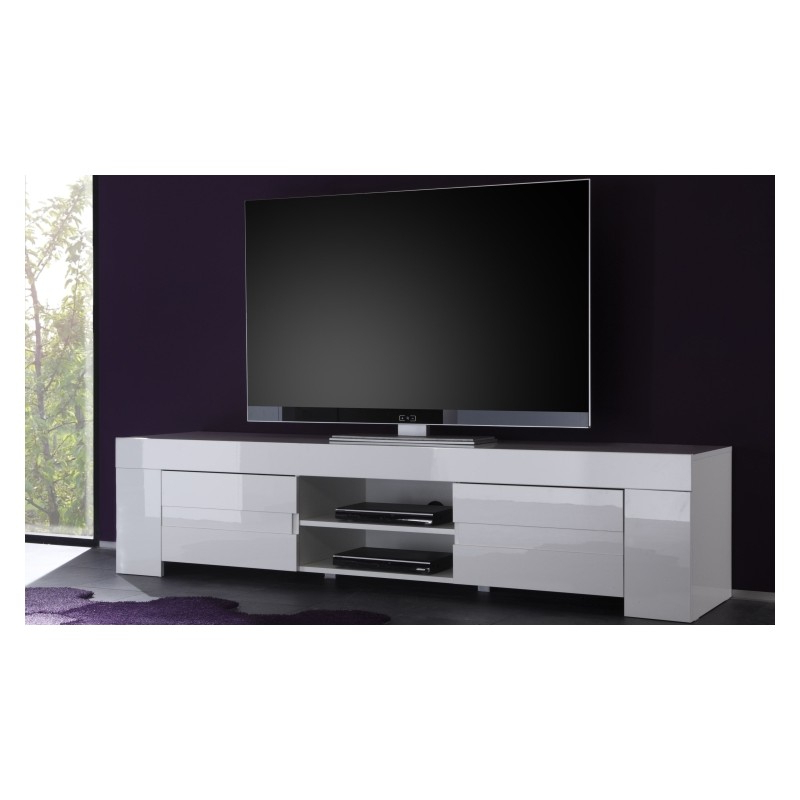 White High Gloss Tv Stands Regarding Popular Eos Large High Gloss Tv Unit – Tv Stands (963) – Sena Home Furniture (View 16 of 20)