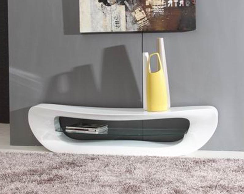 White Modern Tv Stands Inside Widely Used Modrest Crest – Contemporary White Tv Stand (View 18 of 20)