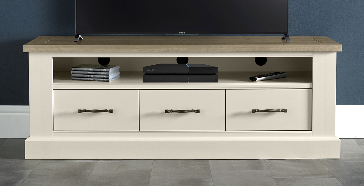 White Painted Tv Cabinets Throughout Newest Tv & Hi Fi Units (View 3 of 20)