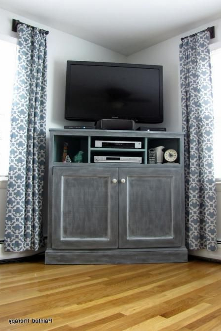 White Painted Tv Cabinets With Regard To 2018 Diy Furniture Plan From Ana White Build A Corner Media Stand (View 15 of 20)