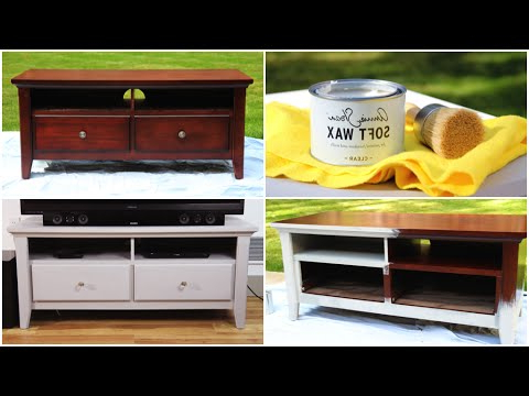 White Painted Tv Cabinets With Regard To Newest Diy Chalk Paint Furniture Makeover – Youtube (View 9 of 20)