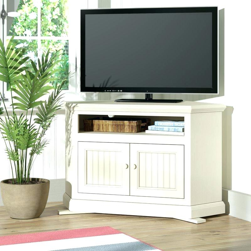 White Small Corner Tv Stands Pertaining To Recent Small Corner Tv Stands Small Corner Stand Corner Stand White Gloss (View 11 of 20)