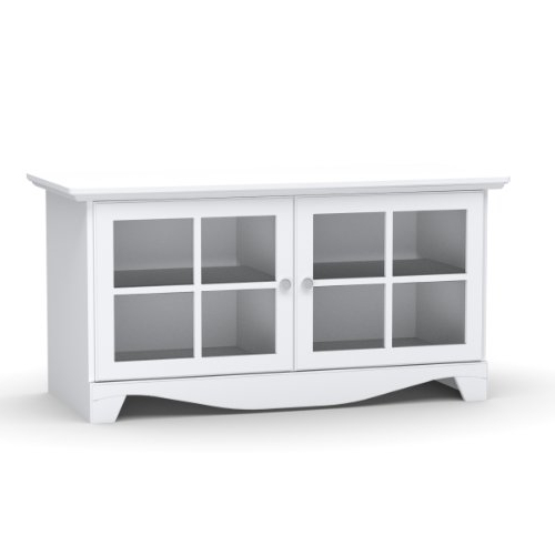 White Tv Cabinets Inside 2018 Amazon: Pinnacle 49'' Tv Stand 100403 From Nexera – White (View 19 of 20)