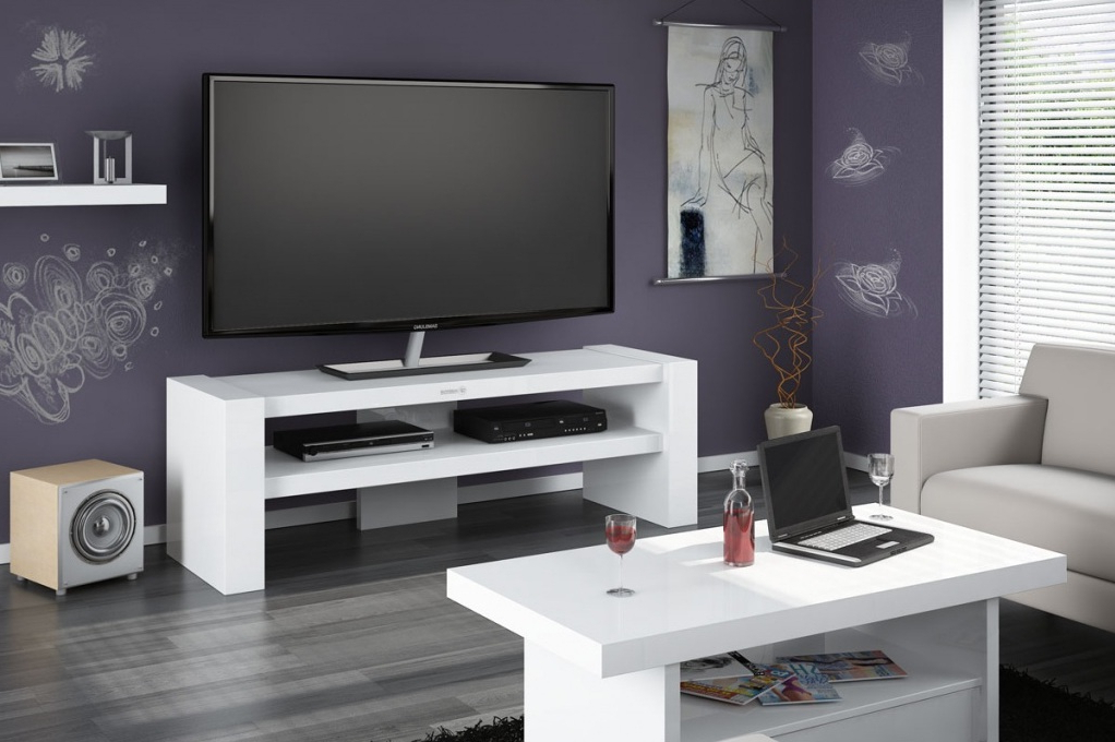 White Tv Cabinets (Gallery 12 of 20)