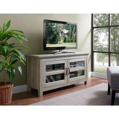White – Tv Stands – Living Room Furniture – The Home Depot Within Famous White And Wood Tv Stands (View 14 of 20)