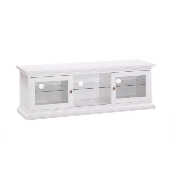 White Tv Stands Regarding Latest Shop Sonoma White Tv Stand – Free Shipping Today – Overstock (View 20 of 20)
