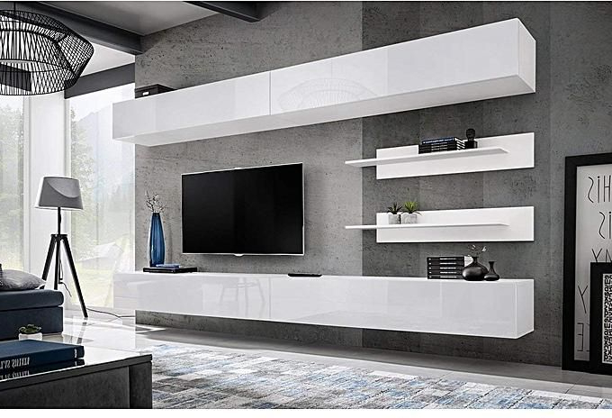 White Wall Mounted Tv Stands With Regard To Favorite Generic Elegant Wall Mounted Floating Modern Wall Unit / Tv Stand (View 20 of 20)