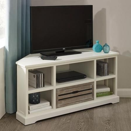White Wood Corner Tv Stands With Preferred Atlanta White Corner Tv Unit (View 18 of 20)