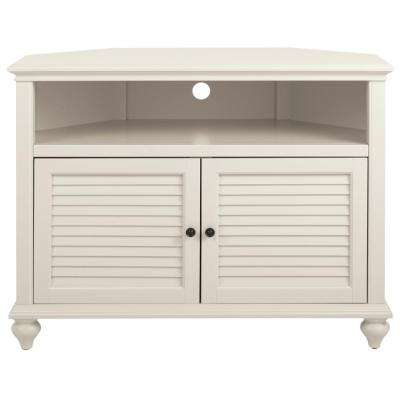 White Wood Corner Tv Stands With Regard To Widely Used Corner Unit – White – Tv Stands – Living Room Furniture – The Home Depot (View 19 of 20)