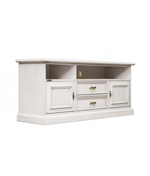White Wood Tv Stands In Trendy Low Tv Stand With Soundbar Shelf – Ferrettohome (View 15 of 20)