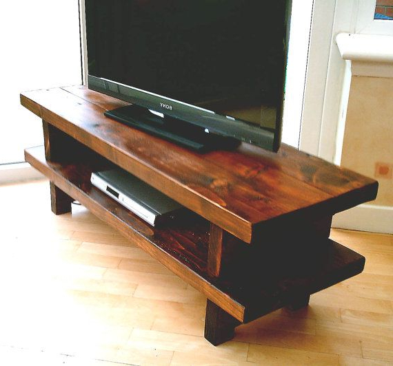 Wide Screen Tv Stands For Trendy Hand Made Rustic Widescreen Tv Stand (View 4 of 20)