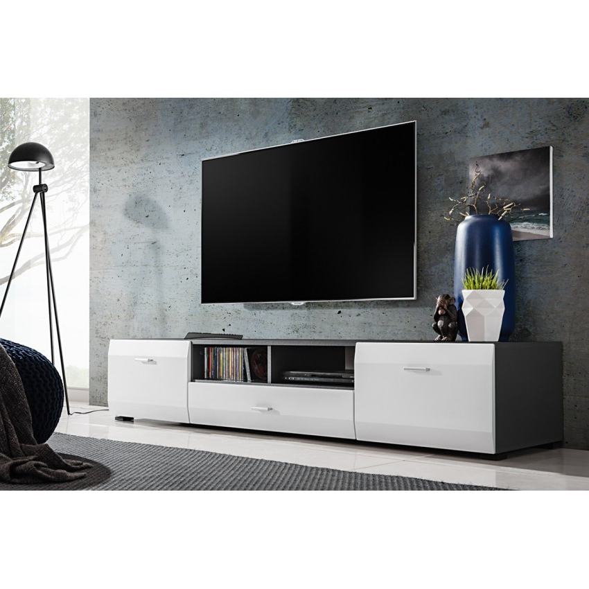 Wide Tv Cabinets Pertaining To Most Up To Date Cliff Tv Stand (View 17 of 20)