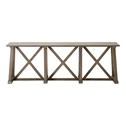 """Widely Used Amazon: Ethan Allen Bruckner Console Table, 86"""" W, Millstone For Ethan Console Tables (View 14 of 20)"""