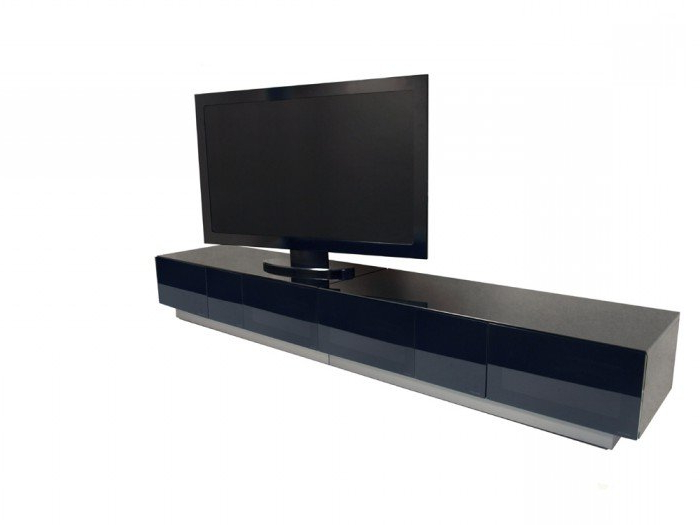 Widely Used Black Gloss Tv Cabinets Inside Alphason Element 2500 High Gloss Black Tv Cabinet (View 2 of 20)