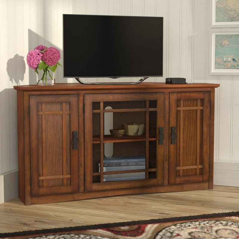"Widely Used Corner Tv Cabinets For Flat Screens With Doors Intended For Charlton Home Stodeley Corner Tv Stand For Tvs Up To 50"" & Reviews (View 20 of 20)"