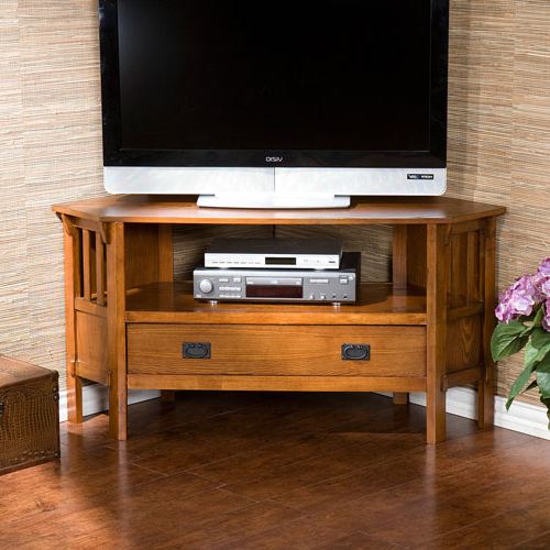 Widely Used Corner Tv Cabinets Pertaining To Corner Tv Cabinets & Stands (View 20 of 20)