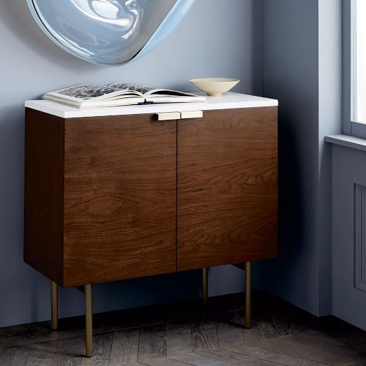 "Widely Used Delphine Entryway Console, 31""w X 14""d X 30""h, Walnut Veneer In An Intended For Scattered Geo Console Tables (View 19 of 20)"