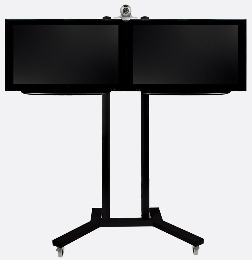 Widely Used Dual Tv Stands Inside B Tech Bt8511/bb Flat Screen Floor Stand/trolley Dual Universal, 2x (View 12 of 20)