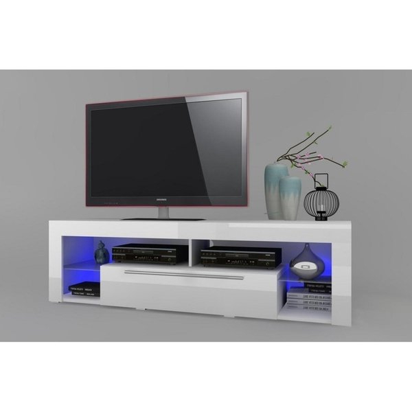 Widely Used Glossy White Tv Stands With Regard To Shop Goal Glossy White Tv Stand – On Sale – Ships To Canada (View 20 of 20)
