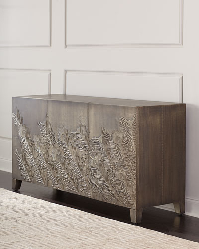 Widely Used Gunmetal Perforated Brass Media Console Tables Within Entertainment Console (View 13 of 13)