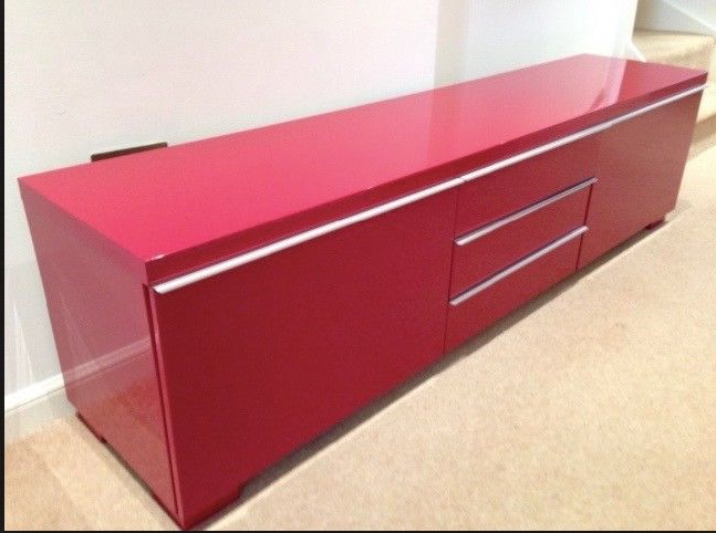 Widely Used Ikea Red Gloss Tv Unit (View 18 of 20)