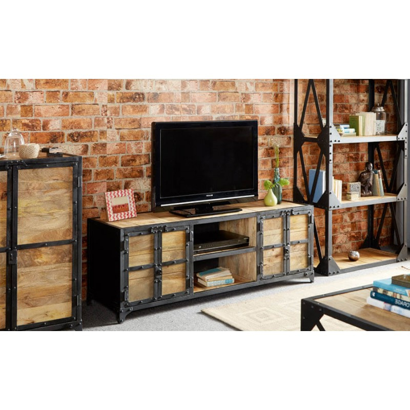 Widely Used Industrial Tv Cabinets For Industrial Solid Wood Industrial Tv Cabinet Bathroom Sink Cabinets (View 20 of 20)