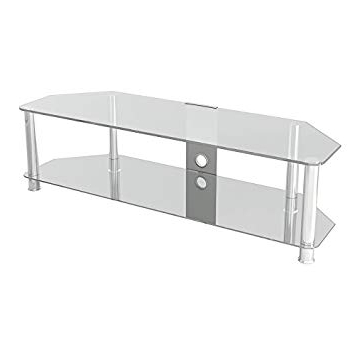 "Widely Used King Universal Clear Glass Tv Stand 140Cm Suitable Up To 65"" Inch Pertaining To Clear Glass Tv Stand (View 15 of 20)"