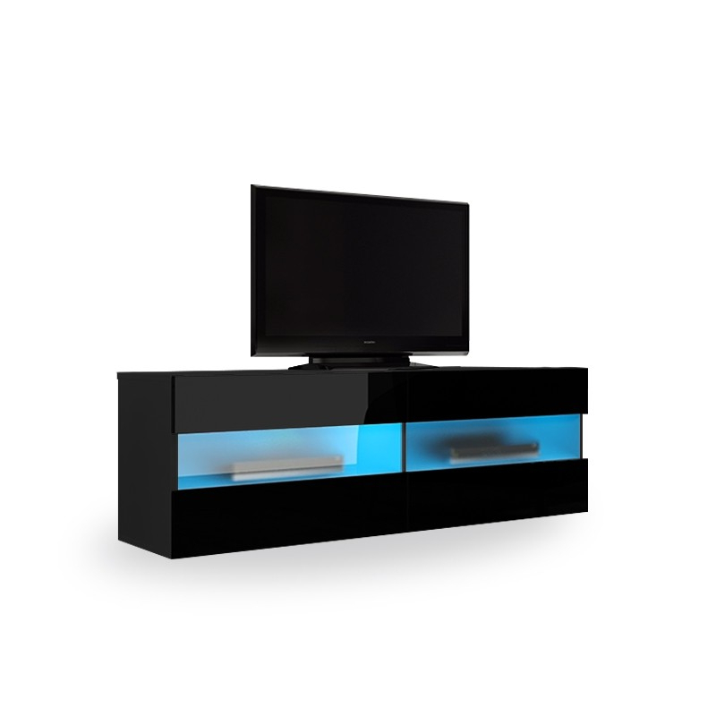 "Widely Used Maddox Small Floating Black Gloss Tv Unit 0Tv Up To 42"" Within High Gloss Tv Benches (Gallery 19 of 20)"